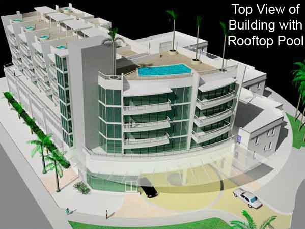 Top View of completed construction at 6305 Indian Creek Drive, Miami Beach, FL